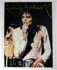 マイケル・ジャクソン 直筆サイン入りUS版オリジナルスチール写真