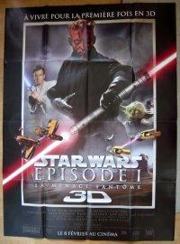 STAR WARS エピソードI/ファントム・メナス 3D フランス版オリジナルポスター