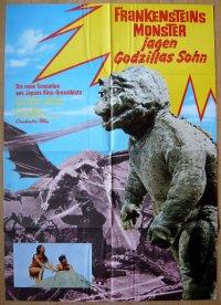 怪獣島の決戦 ゴジラの息子 ドイツ版オリジナルポスター
