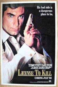 007 消されたライセンス US版オリジナルポスター