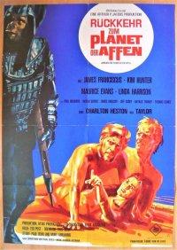続・猿の惑星 ドイツ版オリジナルポスター