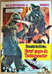 ゴジラ対へドラ ドイツ版オリジナルポスター