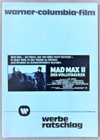 マッドマックス2 ドイツ版オリジナルプレスブック