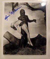 大アマゾンの半漁人(スーツアクター)直筆サイン入りUS版オリジナルスチール写真