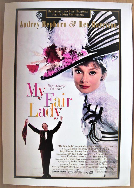 画像1: マイ・フェア・レディ 30周年記念/MY FAIR RADY 30th US版オリジナルポスター