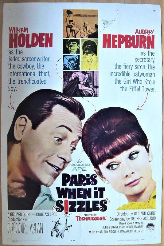 画像1: パリで一緒に/PARIS WHENIT SIZZLES US版オリジナルポスター