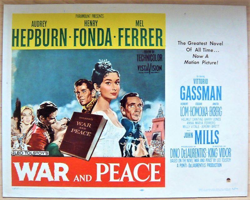画像1: 戦争と平和/WAR AND PEACE US版オリジナルポスター