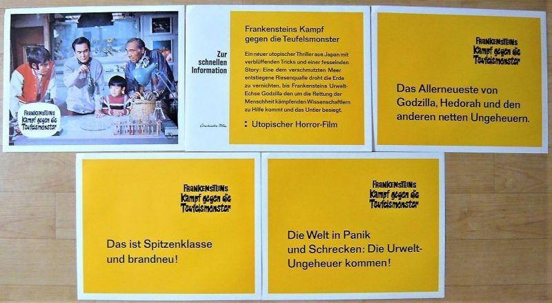 画像4: ゴジラ対へドラ ドイツ版オリジナルロビーカードセット