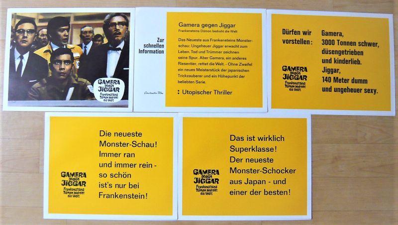 画像3: ガメラ対大魔獣ジャイガー ドイツ版オリジナルロビーカードセット