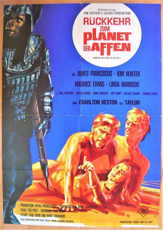画像1: 続・猿の惑星 ドイツ版オリジナルポスター