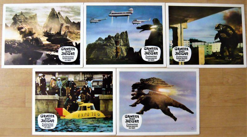 画像2: ガメラ対大魔獣ジャイガー ドイツ版オリジナルロビーカードセット