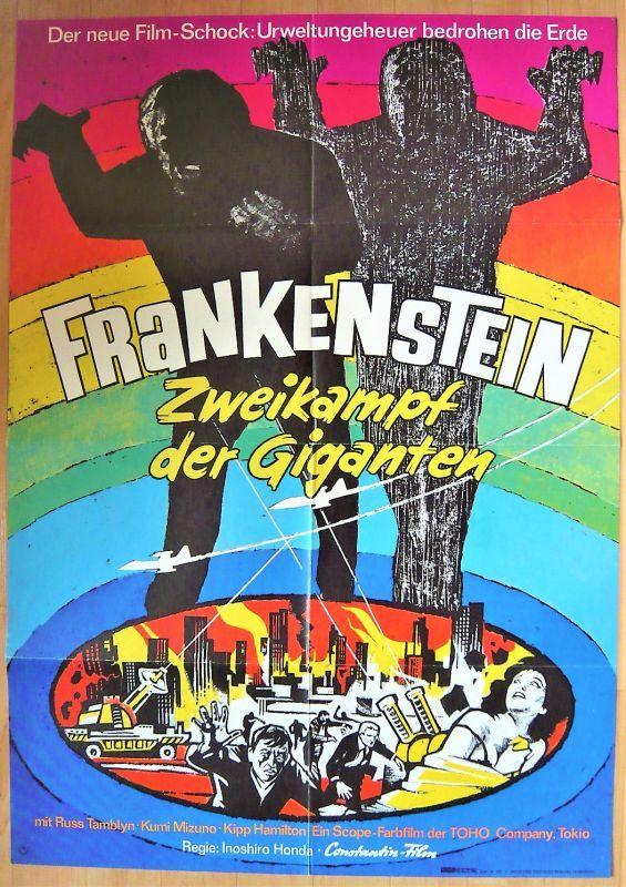 画像1: フランケンシュタインの怪獣 サンダ対ガイラ ドイツ版オリジナルポスター