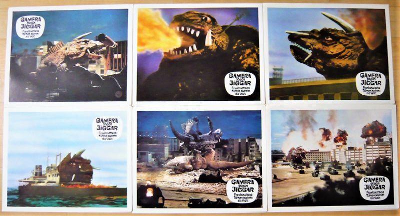 画像1: ガメラ対大魔獣ジャイガー ドイツ版オリジナルロビーカードセット