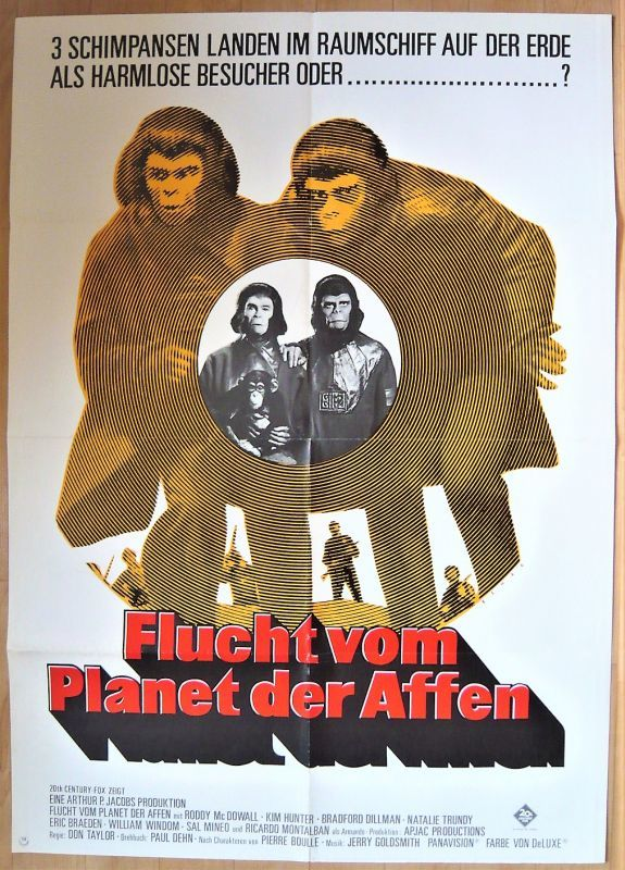 画像1: 新・猿の惑星 ドイツ版オリジナルポスター