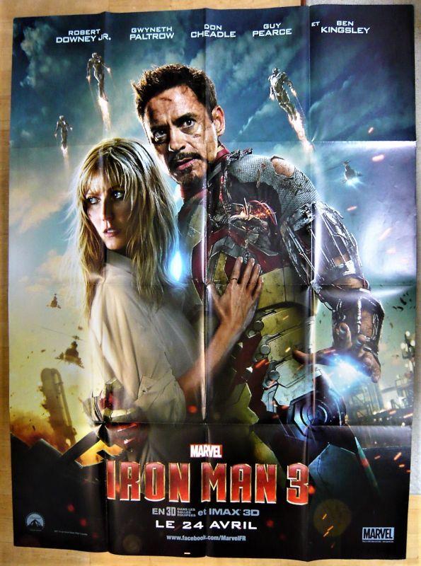 画像1: アイアンマン3 フランス版オリジナルポスター