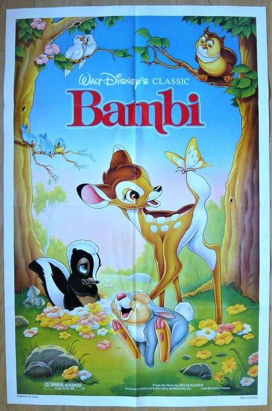 画像1: バンビ US版オリジナルポスター
