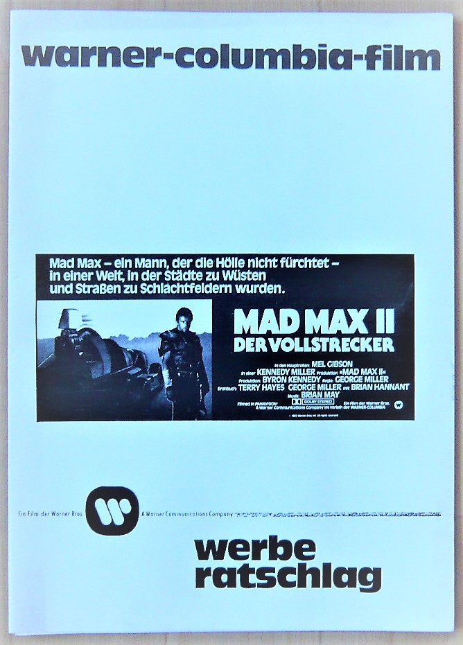 画像1: マッドマックス2 ドイツ版オリジナルプレスブック