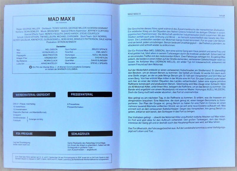 画像3: マッドマックス2 ドイツ版オリジナルプレスブック