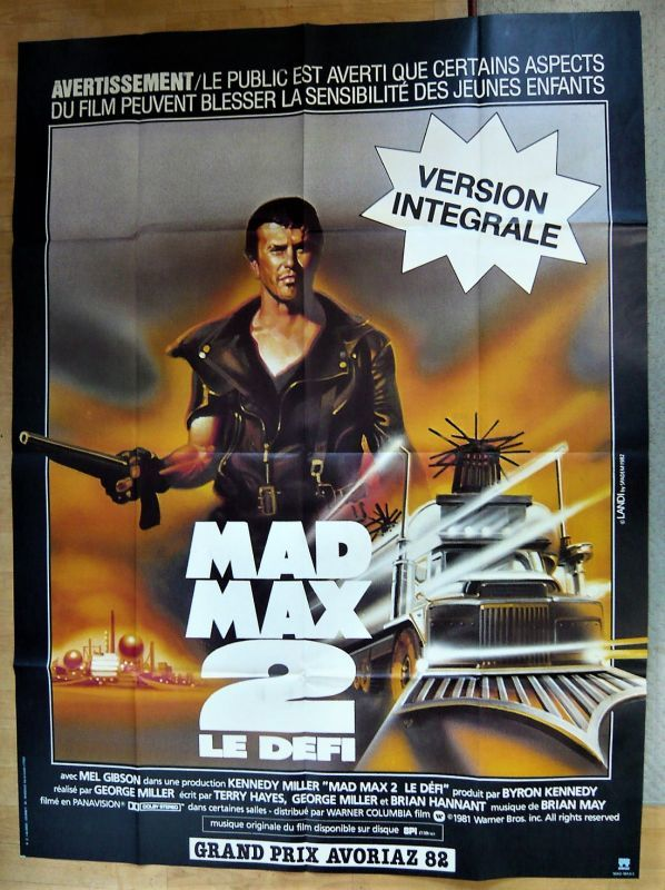 画像1: マッドマックス2  フランス版オリジナルポスター