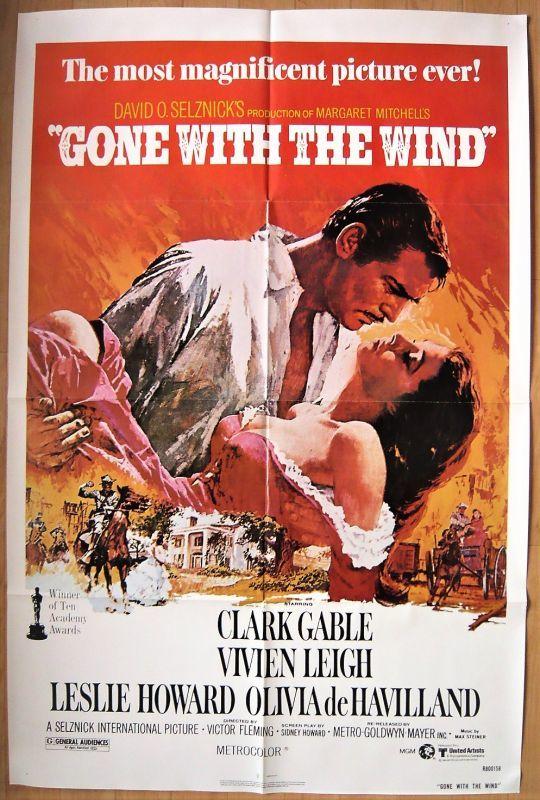 画像1: 風と共に去りぬ US版オリジナルポスター