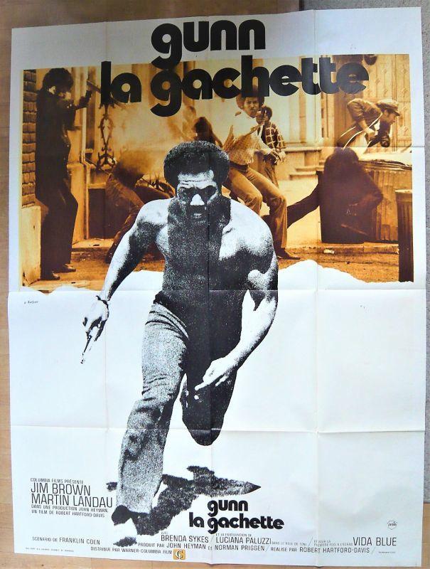 画像1: ブラック・ガン フランス版オリジナルポスター