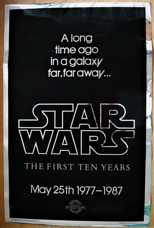 画像1: スター・ウォーズ 10周年 US版オリジナルポスター