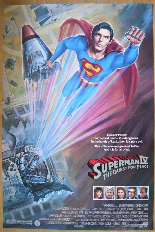 画像1: スーパーマン4/最強の敵 US版オリジナルポスター